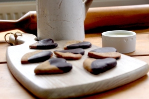 Delicious Dark Chocolate Dipped Ginger Cookies