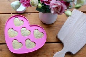 Pink Lemon Heart Cakes