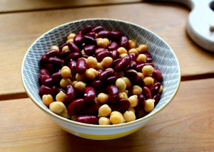 roast Beans and chickpeas