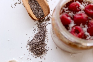 Chia seeds in pudding