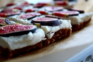 Fig Cashew Slices