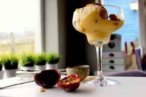 passionfruit and mango icecream