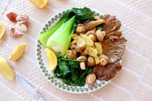 garlic and ginger mushrooms
