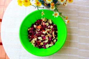 shredded cabbage salad