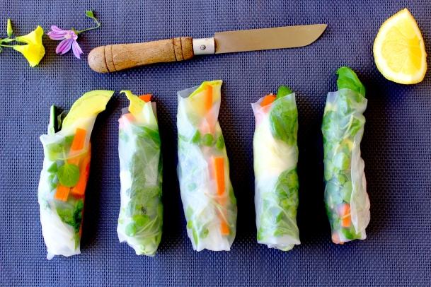 vegan raw rolls